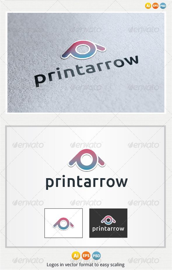 Print Arrow Logo - Letters Logo Templates