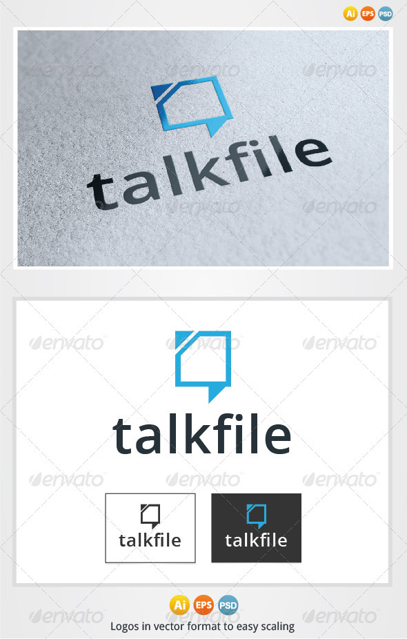 Talk File Logo - Symbols Logo Templates