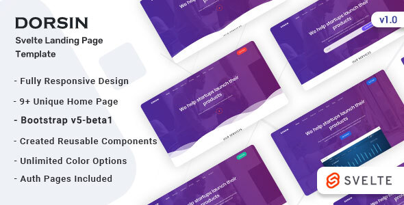 Dorsin – Svelte Landing Page Templae