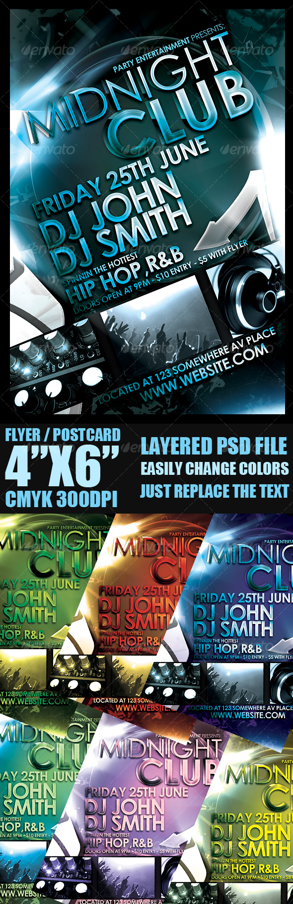 Event Flyer Template - Clubs & Parties Events