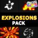 Cartoon Explosions Pack | FCPX - VideoHive Item for Sale