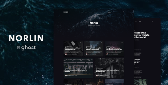 Norlin — Personal Dark Theme for Ghost