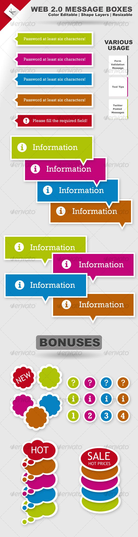 Web 2.0 Message Boxes - Miscellaneous Web Elements