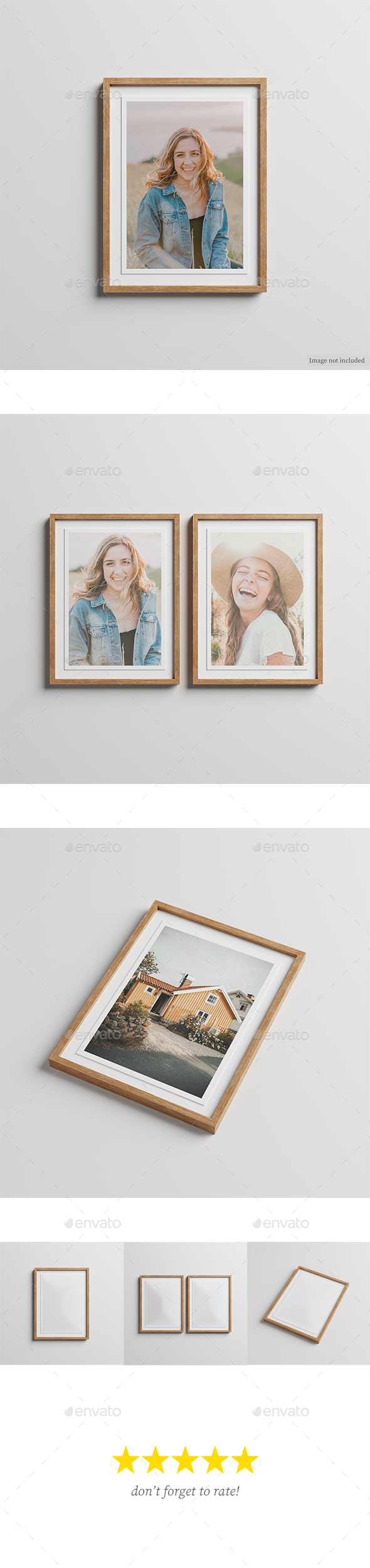 Wooden Frame Photos Mockup