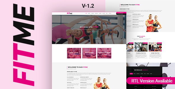 Fitme - Yoga, Gym & Fitness One Page HTML Template