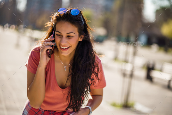 On the phone - Stock Photo - Images