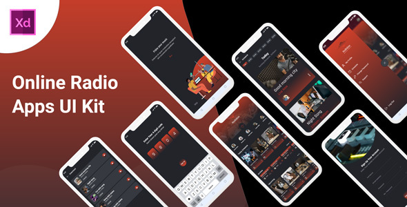 Radiobox - Online Radio App UI kit