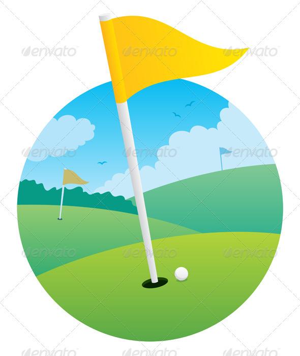 Golf Flag - Sports/Activity Conceptual