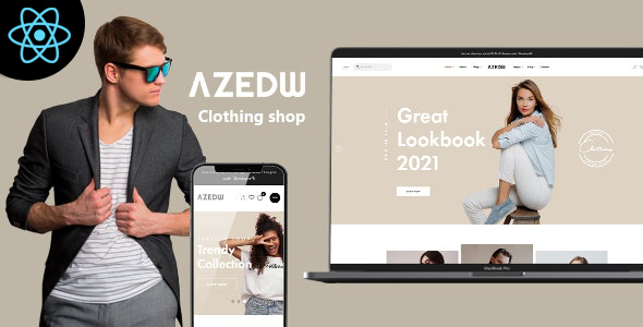 Azedw – React Clothing eCommerce Template
