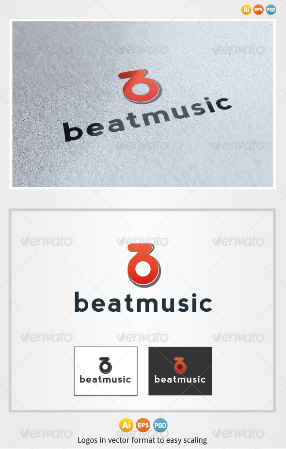 Beat Music Logo - Letters Logo Templates