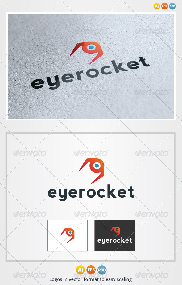 Eye Rocket Logo - Objects Logo Templates