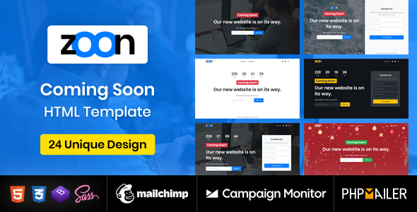 Coming Soon Template - Zoon