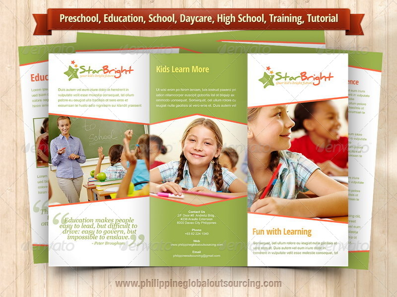 A Trifold Brochure Template PSD Variations By - High school brochure template