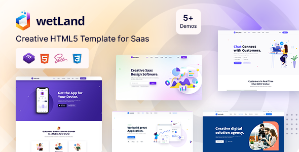 Wetland – MultiPurpose HTML5 Template for Startup