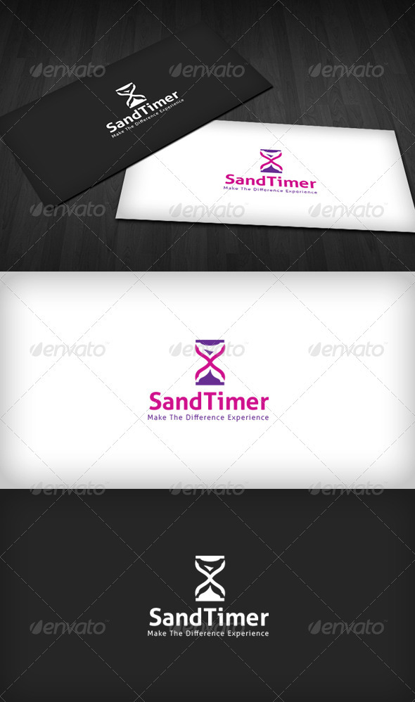 Sand Timer Logo - Objects Logo Templates