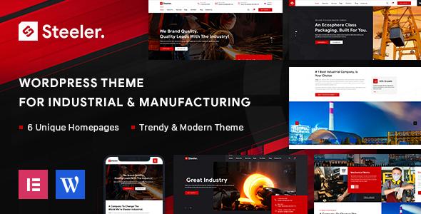 Steeler - Industrial & Manufacturing WordPress Theme