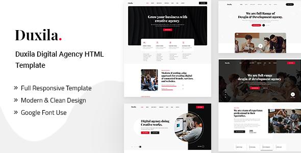 Duxila – Digital Agency HTML Template