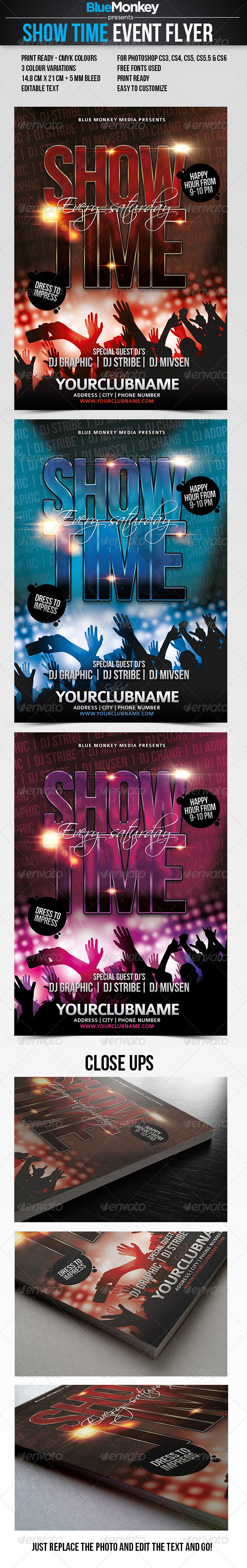 Show Time Event Flyer - Clubs & Parties Events