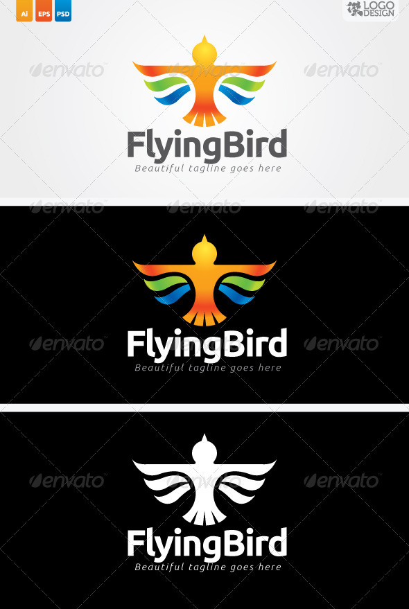 Flying Bird - Animals Logo Templates