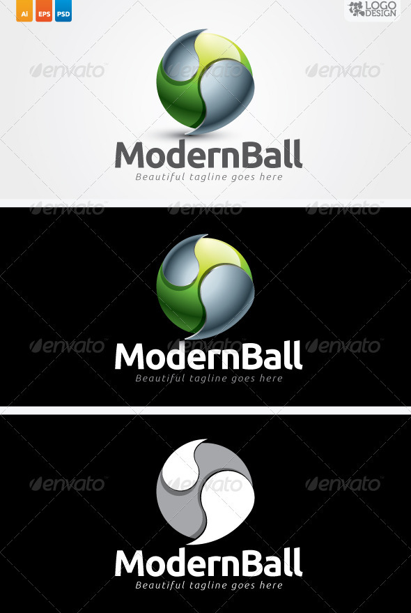 Modern Ball - 3d Abstract