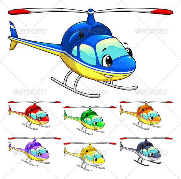 Funny helicopter. - Travel Conceptual