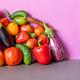 Organic vegetables still life scene. - PhotoDune Item for Sale