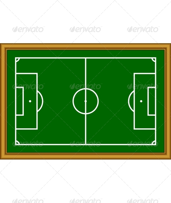 The soccer field scheme. - Borders Decorative