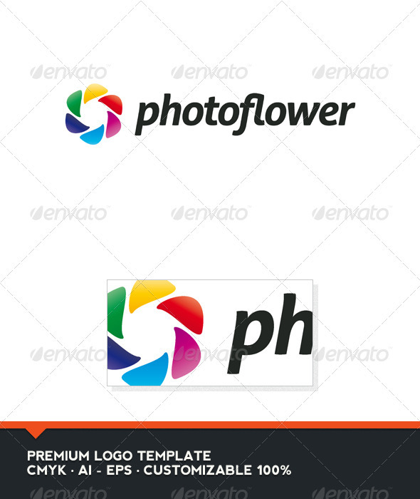 Photo Flower Logo Template - Abstract Logo Templates
