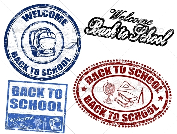 Back to School stamps - Commercial / Shopping Conceptual