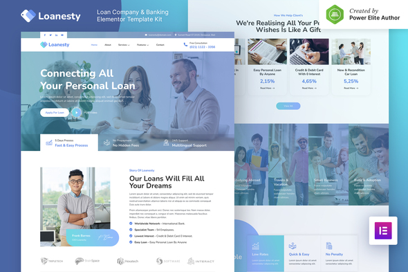 Loanesty – Loan Company & Banking Elementor Template Kit