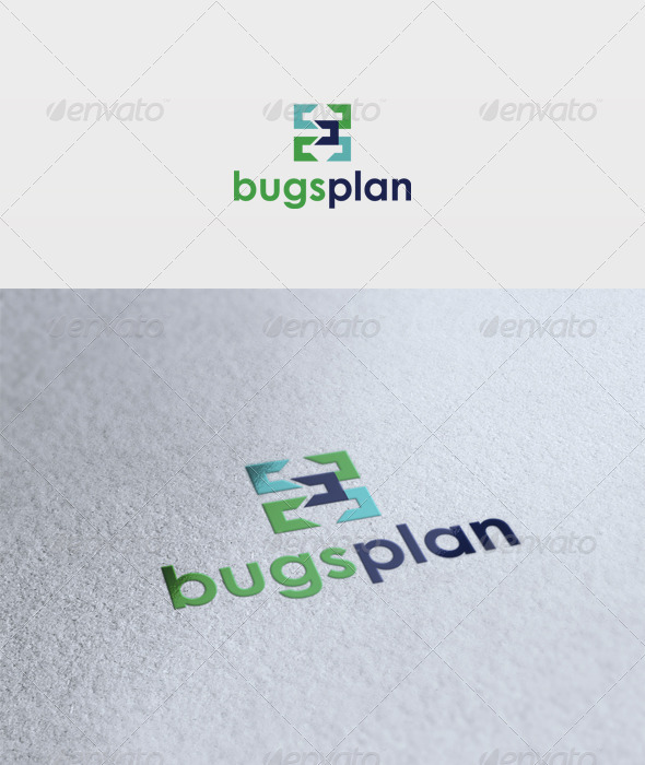 Bugs Plan Logo - Vector Abstract