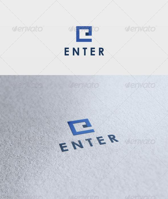 Enter Logo - Letters Logo Templates