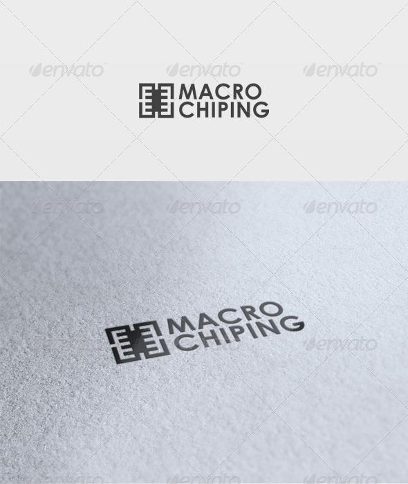 Macro Chip Logo - Vector Abstract