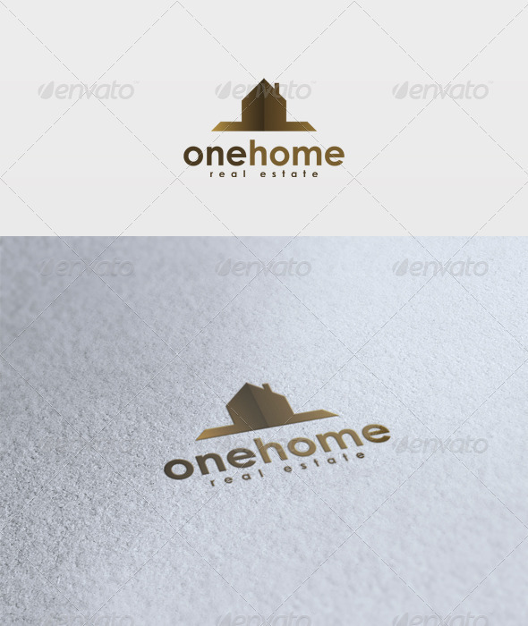 One Home Logo - Buildings Logo Templates