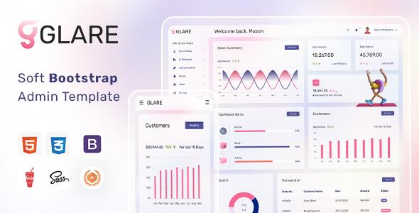 Glare – Soft Bootstrap Admin Dashboard