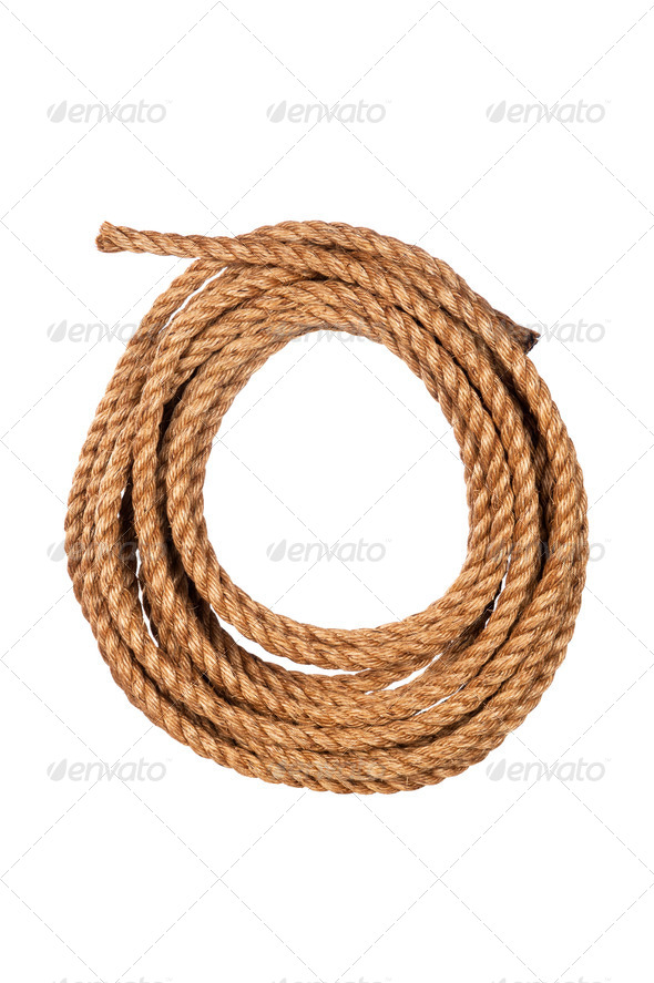 Coiled rope - Stock Photo - Images