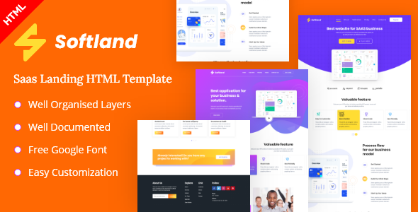 Softland-Saas Landing Page HTML Template