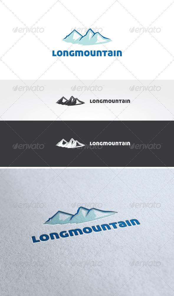 Long Mountain Logo Template - Nature Logo Templates