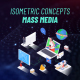 Mass Media - Isometric Concept - VideoHive Item for Sale