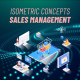 Sales management - Isometric Concept - VideoHive Item for Sale