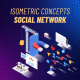 Social network - Isometric Concept - VideoHive Item for Sale