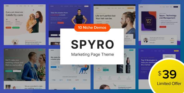 Spyro – Marketing Landing Page WordPress Theme