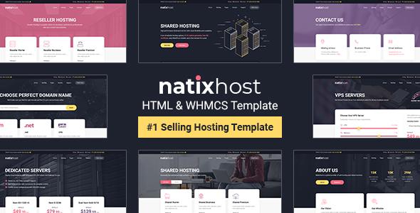 Marvelous NatixHost - WHMCS & Hosting HTML Template
