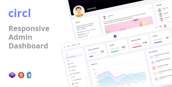 Circl - Responsive Admin Dashboard Template