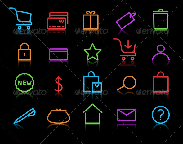E-commerce Icon Set - Conceptual Vectors