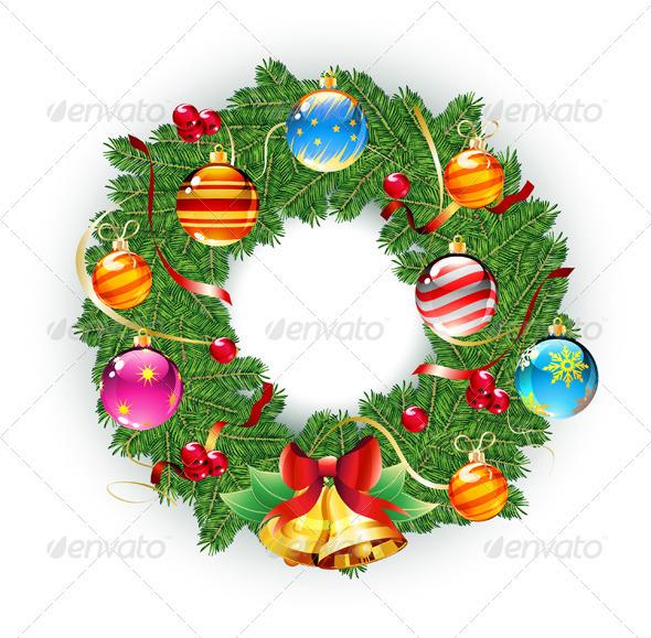 Christmas green wreath - Seasons/Holidays Conceptual