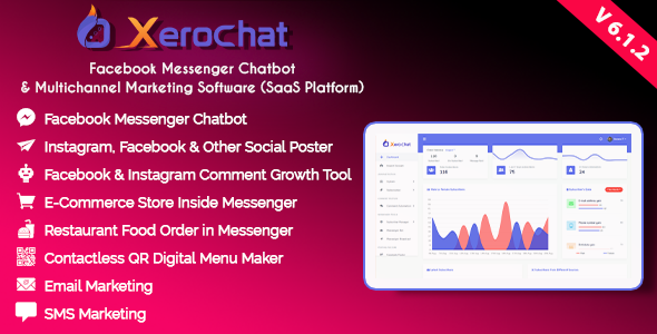 XeroChat - Facebook Chatbot, eCommerce & Social Media Management Tool (SaaS) Nulled