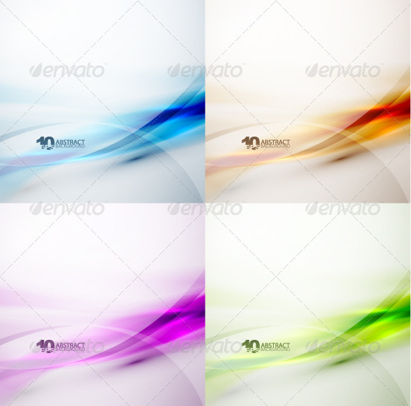 Colorful Wave Vector Backgrounds - Backgrounds Decorative