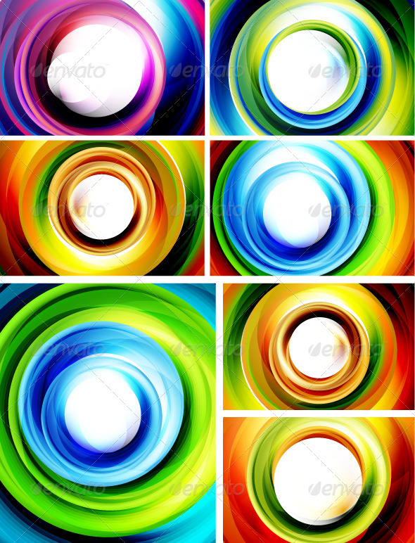 Swirly Backgrounds Big Pack - Characters Vectors