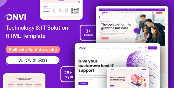 Onvi – IT Solutions & Services HTML Template